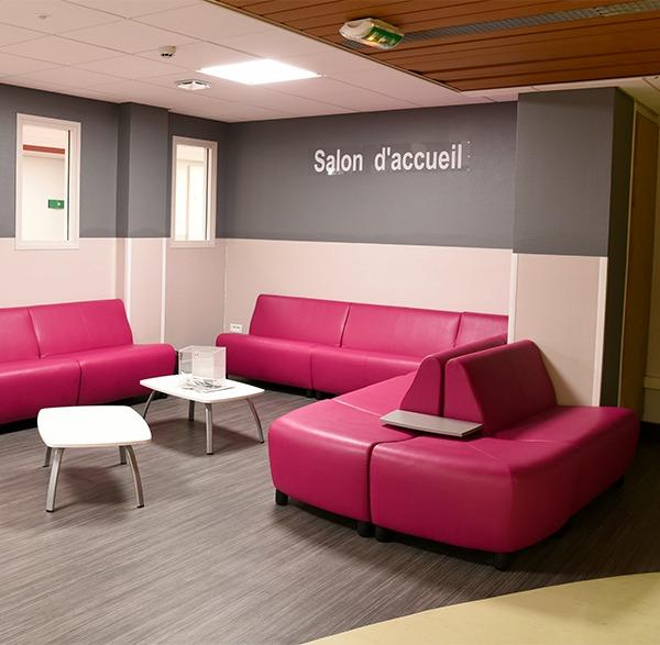 Hôpital Salengro de Lille salon d'accueil