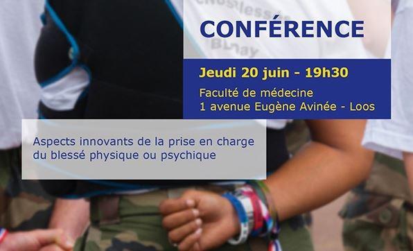 Conférence aspects innovants de la prise en charge du blessé physique et psychique