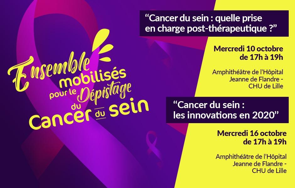 Dépistage du cancer du sein - octobre Rose 2019
