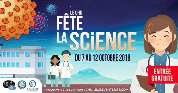Fête de la Science 2019 avec le CHU de Lille