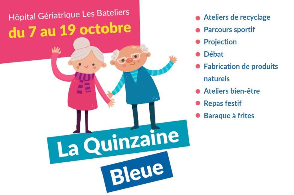 Quinzaine bleue Hôpital les Bateliers du CHU de Lille