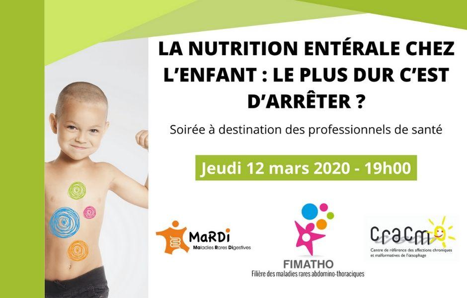 La nutrition entérale chez l'enfant