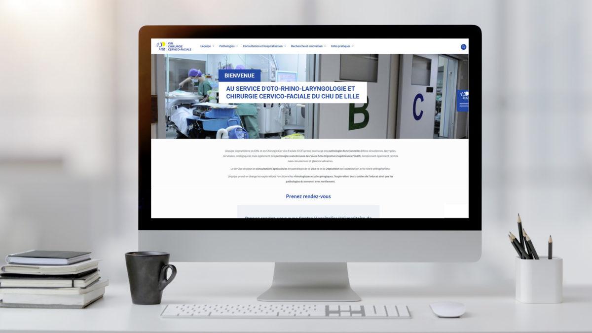 Le nouveau site web du service d'ORL